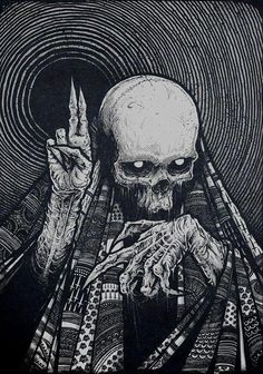 ┼Metal is my life!Page about metal,dark art,horror and other brutal things! Arte Horror, Horror Art, Art Épouvante, Inspiration Art, Art Inspo, Skull Tatto, Tattoo Art, Dark Tattoo, Art Noir