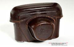 Old leather camera bag.