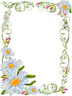 View album on Yandex. Frame Border Design, Page Borders Design, Borders For Paper, Borders And Frames, Flower Border Clipart, Floral Frames, Printable Border, Mirror Painting, First Birthday Photos