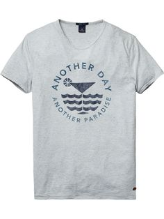 Melange T-Shirt | T-shirts ss | Men Clothing at Scotch & Soda