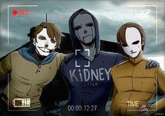 Ticci Toby, Eyeless Jack, and Masky