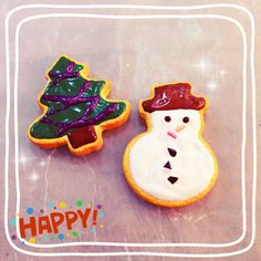 Making some Christmas polymer clay icing cookies~ love the snowman :)