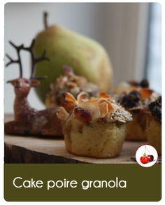 """Voici une recette hyper simple, le """"Cake aux poires granola"""". Que du bon et #Belgetarien"""