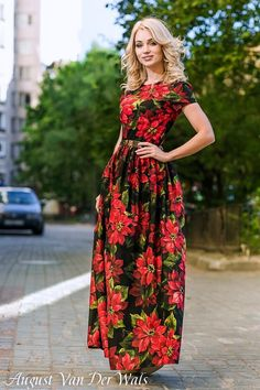"""Floral Maxi Dress """"Garden of Eden"""" 100% Italian Cotton  /  High Quality Designer summer dress / prom dresses . You can buy it in my etsy shop"""