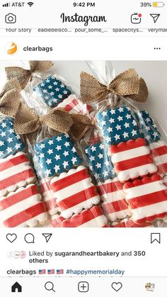 🇺🇸🇺🇸🇺🇸 thank you for sharing, we absolutely love it! Blue Cookies, Iced Sugar Cookies, Summer Cookies, Mini Cookies, Fancy Cookies, Cut Out Cookies, Royal Icing Cookies, Cupcake Cookies, Cupcakes