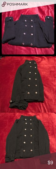 Cute Military style sweater ❤ In good condition. Has cute double breasted buttons in it. Very cozy, perfect for layering ❤ Zenana Outfitters Tops Sweatshirts & Hoodies