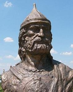 Statue of Atilla, king of the Huns. Contemporary work.