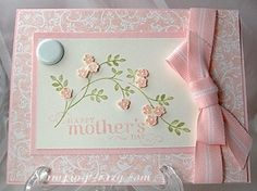 very pretty Thoughts & Prayers card done as a Mother's Day card