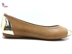 Chaussures Femmes HOGAN Ballerines Marron / Or Peau de python AW606 (37 EU) - Chaussures hogan (*Partner-Link)