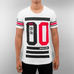 Red Bridge Camiseta blanco Gents T Shirts, Tee Shirts, Tees, Boys Designer Clothes, Men Design, Diy Clothes, Sportswear, Shirt Designs, Street Wear