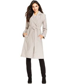 Eileen Fisher Notched Collar Trench Coat