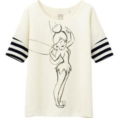 UNIQLO Women Disney Project Short Sleeve Graphic T-Shirt (€8,84) ❤ liked on Polyvore featuring tops, t-shirts, shirts, disney, cotton shirts, short sleeve shirts, white tee, t shirts and white short sleeve shirt