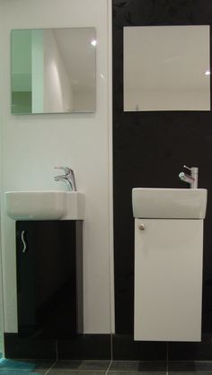 Cloakroom options in White or Black Gloss