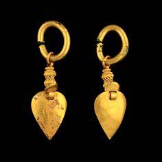 A Pair Of Gold Earrings, Silla Korea 4th - 9th Century