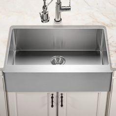 "Found it at Wayfair - Epicure 33"" x 20"" Series Gourmet Single Bowl Apron Front Kitchen Sink"