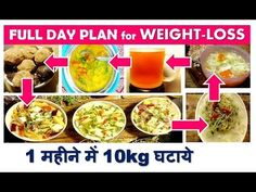 FULL DAY PLAN for WEIGHT-LOSS , 1 महीने में 10kg घटाये, 1 month diet plan, dr shalini recipes - YouTube