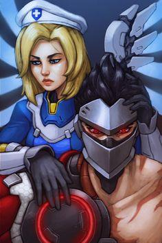 Genji and Mercy insurrection-    Overwatch