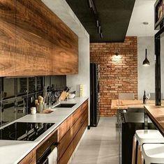 Rustic wood grain cabinets, yay or nay?⠀⠀⠀⠀⠀⠀⠀⠀⠀ Credit @ comparethetradie (IG)