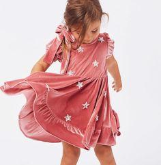 Star of the party ⭐️ Tap to shop the North Star Velvet Dress & Velvet Hair Bow Lil Lemons, Velvet Hair, Girls 4, Cute Kids, Little Ones, Hair Bows, Cold Shoulder Dress, Barbie, Dope Clothes