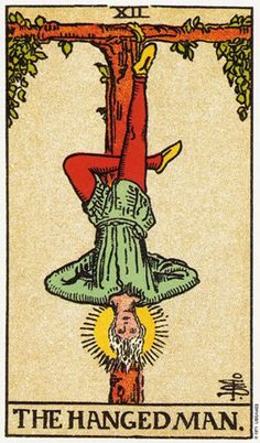 Featured Tarot Card The Hanged Man from the Rider Waite Deck The Hanged Man reflects a need to suspend action, and as a result, a period of indecision may be indicated. Decisions or actions that need. All Tarot Cards, Vintage Tarot Cards, Tarot Card Art, Hanged Man Tarot, The Hanged Man, Major Arcana Cards, Tarot Major Arcana, Tarot Rider Waite, Tarot Waite