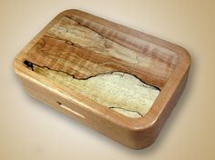 Alder Fly Box with Spalted Maple Inlay by SouthernCraftsmen, $95.00...Beautiful fly box!