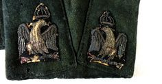 Close-up on the silver  'aigles de retroussis' from the coat of an douanes lieutenant, 1809.