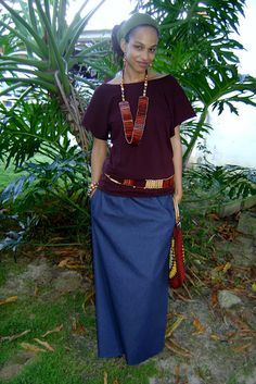 Rasta Wife Line: How to Sew a Maxi Skirt with Pockets Tutorial Modest Wear, Modest Outfits, Skirt Outfits, Modest Fashion, Fashion Outfits, Modest Dresses, Long Dresses, Maxis, Maxi Skirt Tutorial