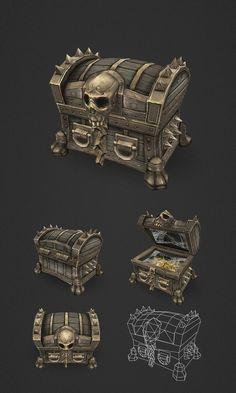 Treasure Chest Medium by bitgem.deviantart.com on @DeviantArt