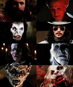 The many faces of GARY OLDMAN in  BRAM STOKER'S DRACULA (1992) #vampire #horror graphic by orderofthedragon