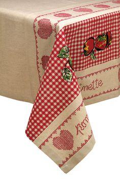 Venda Country Corner / 8457 / Têxtil de Casa / Toalhas de Mesa / Toalha de Mesa Bege e Vermelho - 150x250 cm. De 65€ por 28€.