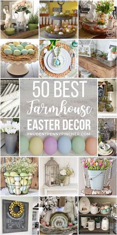 Add easter touches to your farmhouse decor with these DIY farmhouse easter decorations. From outdoor easter decor to easter centerpieces, there are plenty of DIY ideas for the home. #spring #easter #easterdecor #diy #crafts #eastercrafts #springdecor #farmhouse #farmhousedecor #homedecor