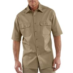Twill work Shirt SS Button-Front - The Brown Duck