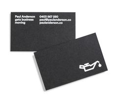 Visual identity and business cards for Paul Anderson by Parallax.