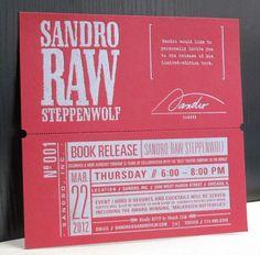 Sandro Miller Book Release Party Invitation