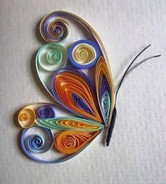 Josie Jenkins Quilling - Crafts All Over Arte Quilling, Quilling Butterfly, Paper Quilling Patterns, Origami And Quilling, Quilling Paper Craft, Paper Butterflies, Paper Crafts, Diy Paper, Quiling Paper Art