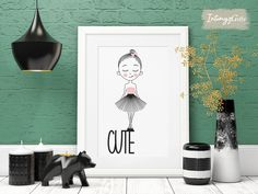 Special Birthday Gifts, Birthday Gifts For Her, Cute Gifts For Girlfriend, Ballerina Art, Girls Bedroom, Printable Wall Art, Art Girl, Art Prints, Art Impressions