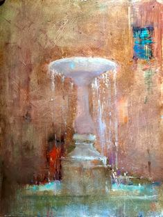 The fountain in a small village in Southern Tuscany. The Fountain Chianciano Terme, Italy – 30cm x 23cm – Oil on Board See my blog if you want to see some of the painting steps.