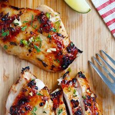 Chili Lime Chicken Marinade Recipe Main Dishes with chicken thighs, marinade, lime juice, lime zest, olive oil, fresh cilantro, jalapeno chilies, garlic cloves, honey, sea salt, chili powder
