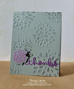 Sweet Stamp Shop: Amp It Up With Embossing Paste!.  lovely colors.