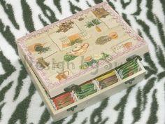 Design by Suzi: Krabica na čaj Decoupage, Tea, Personalized Items, Cover, Design, Teas