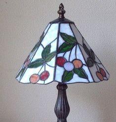 ステンドグラス*さくらんぼのランプ*