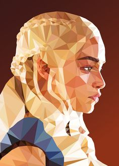 Low-Poly Portrait Illustrations for Inspiration - 9 #lowpoly #illustration #lowpolyportrait