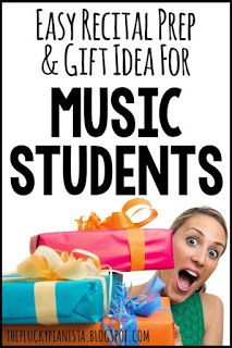 Easy Recital Prep and Gift Idea for Music Students | #pianorecital…