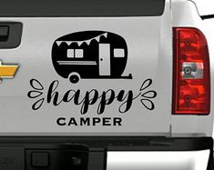 Happy Camper / decal / camper / rv / summer / bon fire / fire / family / friend / smore Bon Fire, Fire Fire, Campers World, Happy Campers, Rv Decals, Funny Babies, Friends Family, Camping