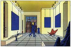Floc'h Illustrateur L'homme dans la foule Actualité Archives: Yves Klein chez Floc'h, 1985 à 2003