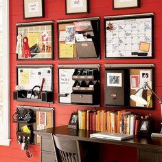 Put your home office wall to use and get more working space