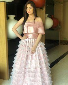 Jannat Zubair's stunning looks to kill at the party Western Dresses, Indian Dresses, Indian Outfits, Beautiful Gowns, Beautiful Outfits, Cute Dresses, Girls Dresses, Stylish Dresses, Prom Dresses
