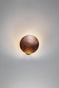 Wall lamp Lederam W1 / LED - Ø 17 cm Copper | Wall lamp Catellani & Smith