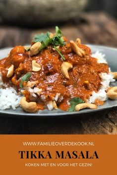 India Food, Dutch Recipes, Cooking Recipes, Healthy Recipes, Tikki Masala, Easy Diner, Slow Cooker Pasta, Food Porn, Indian Food Recipes