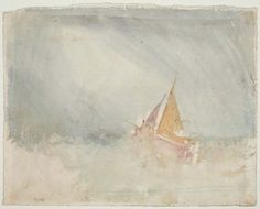 Ship And Cutter Artwork By Joseph Mallord William Turner Oil Painting & Art Prints On Canvas For Sale Joseph Mallord William Turner, Turner Watercolors, Ship Sketch, Turner Painting, Artist Sketchbook, English Artists, Covent Garden, Watercolor And Ink, Canvas Art Prints